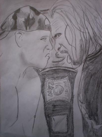 Triple H, John Cena by lita